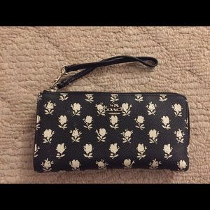 Coach large wallet with strap